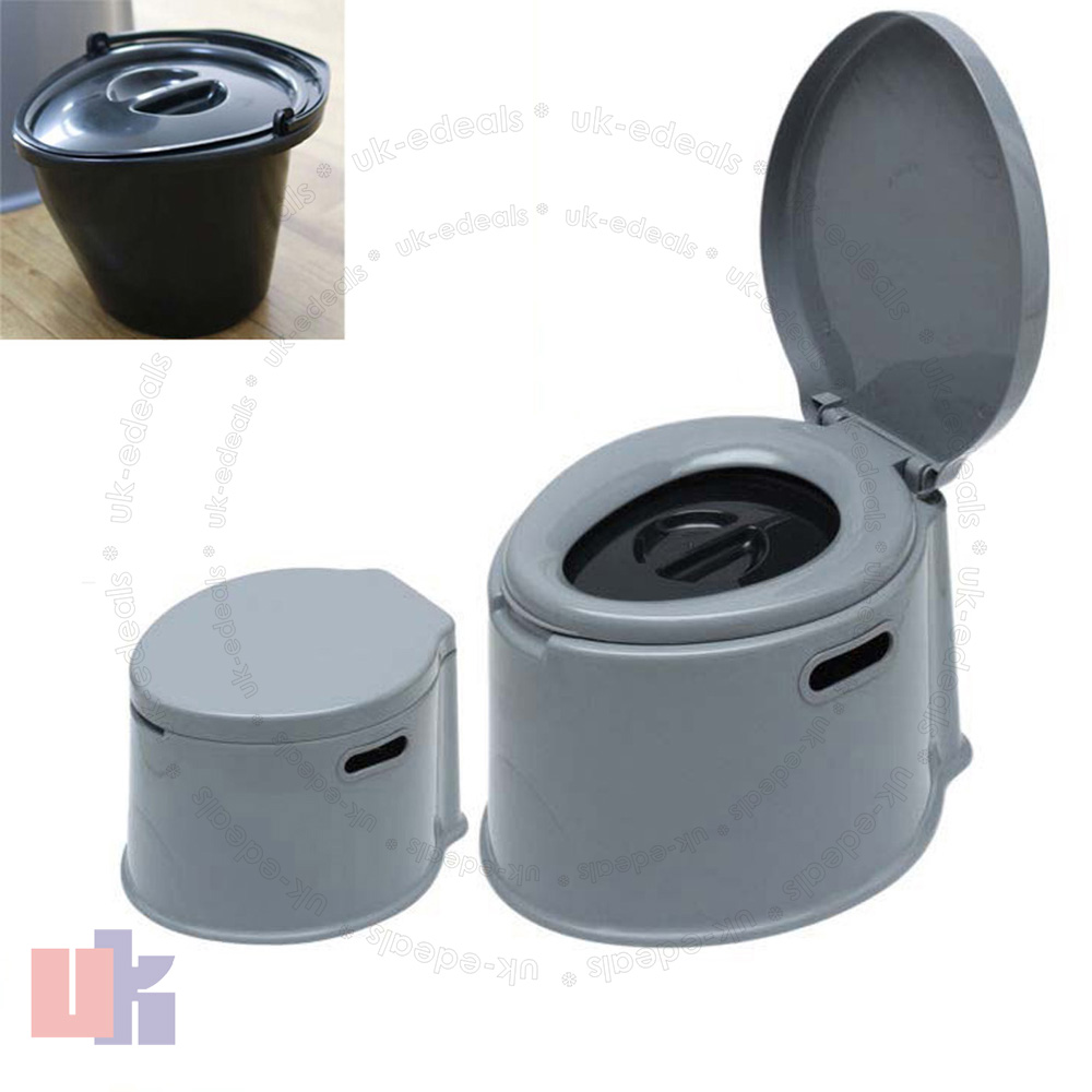 5L Portable Toilet Seat Compact Potty Loo Travel Camping Picnic ...