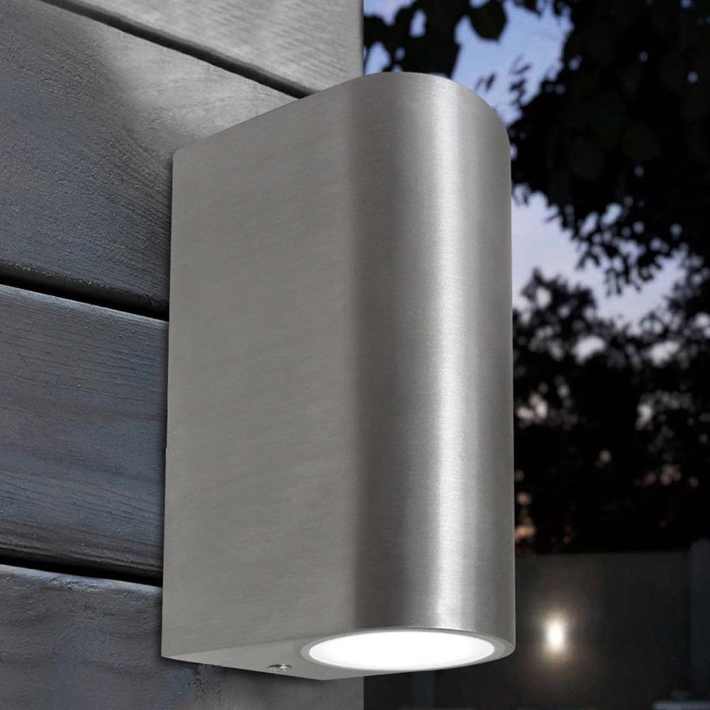 Shop. Home Home Modern Up Down Wall Light GU10 IP44 Double Outdoor Garden  Wall Light